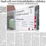 Schließung Grünsammelplatz in Atter Gut Leye NOZ Artikel 10.12.12